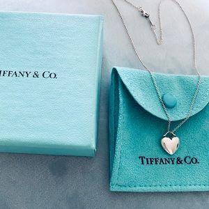 Tiffany & Co. Sterling Silver Puff Heart Necklace